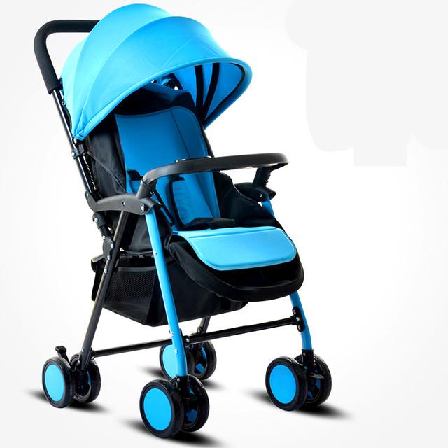 Peso Ligero Cochecito de Bebé Plegable portátil A Prueba de Golpes Suaves Respirables de Cochecitos y Sillas de Paseo de Coche de Bebé Para Recién Nacidos