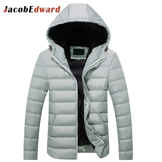 2017 New Arrival Fashion Patchwork Man Casual Jacket Size M-3XL Spring & Autumn Down Parka Men Hooded Coats