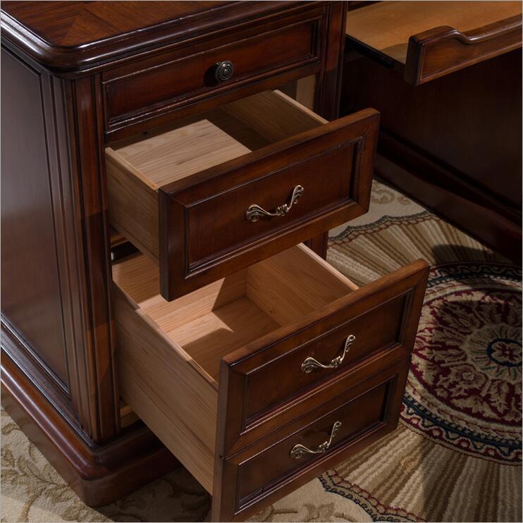 Amerikaanse meubels donkere kleur bureau studie bureau met lade opslag functie p10275 - 3