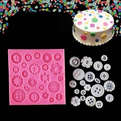 Molde de silicone para bolo, venda quente, botão, ferramentas de cozimento, acessórios de cozinha, decoração para bolos, molde para fondant, k175