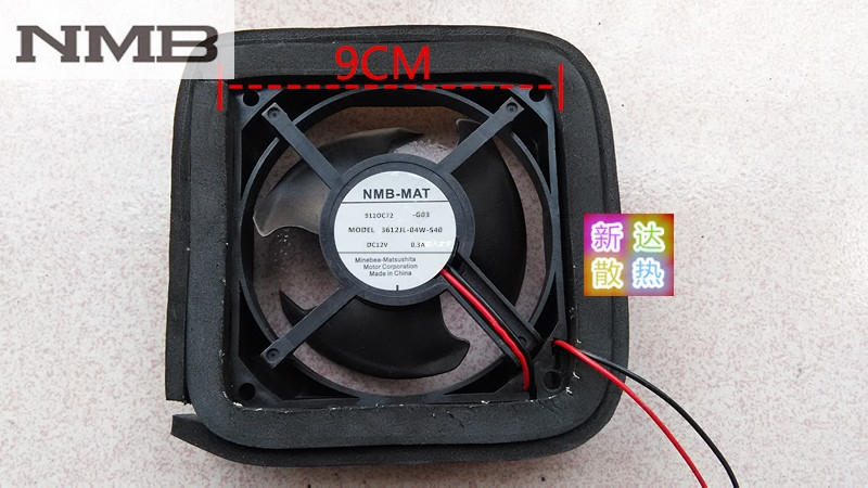 Original NMB 3612JL-04W-S40 12V 0.3A 9cm Refrigerator cooling fan nmb new and original fba09a12m 9025 9cm 12v 0 2a chassis silent cooling fan 90 90 25mm