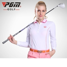 Brand PGM. Ladies Golf Sexy Shirts, Women Long-sleeve Sexy Sports Apparel. Women Workout Polo Shirt, Fitness Gym Sport Dri-Fit