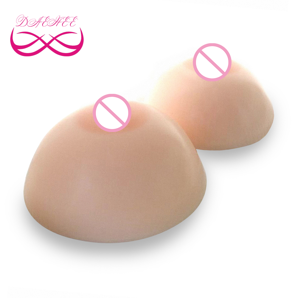 Round Shape 800g Pair C Cup Fake Silicone Breast Form Boobs Tit Chest Enhancer Bust For
