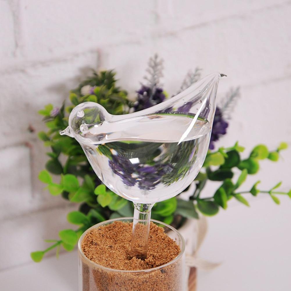 Стекло прозрачная птица форма простой ороситель оросительное устройство для сада