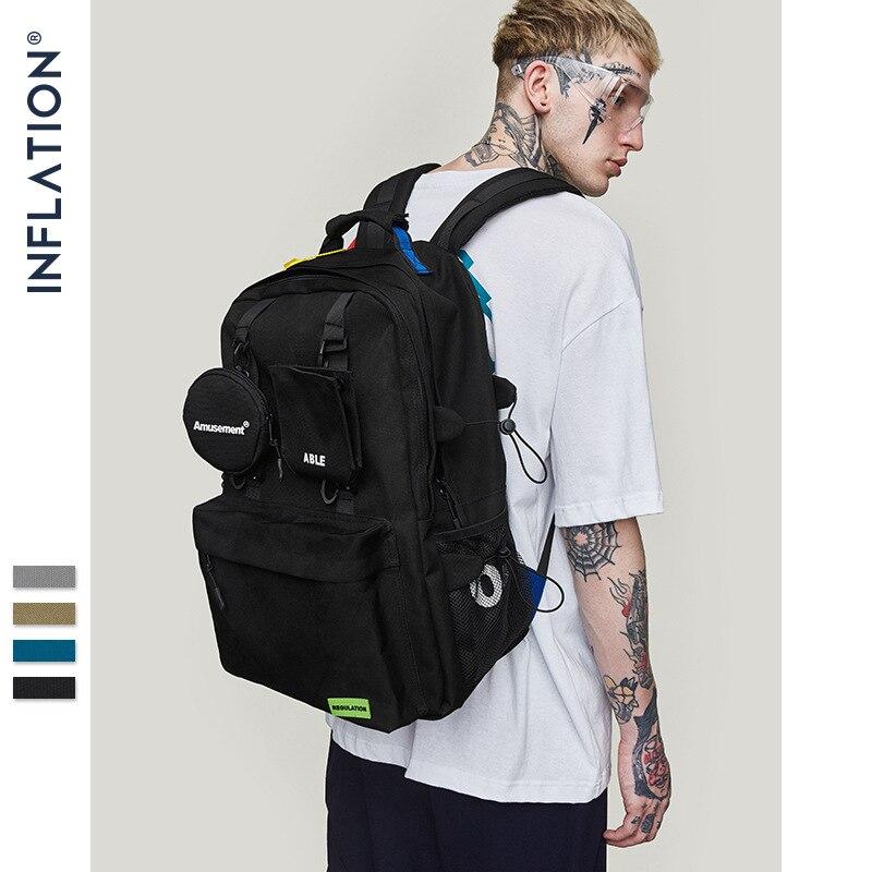 Inflacji mężczyźni plecak 2019 torba na ramię mężczyzna mody plecaki podróżne Fashion Street Style plecak torby na laptop stałe 205AI2018 w Plecaki od Bagaże i torby na  Grupa 3