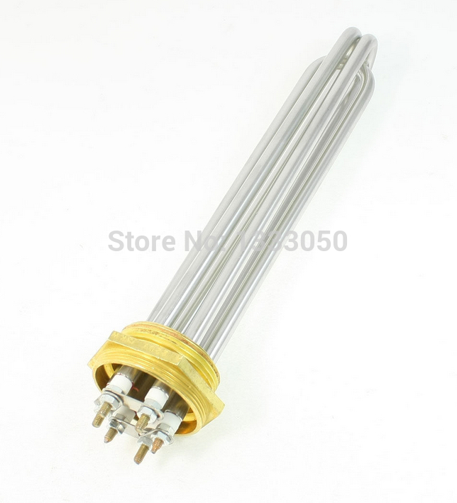 Free Shipping AC 220V 3000W 6P Terminals Water Boiler Heating Element 3U Shaped Tube Heater купить