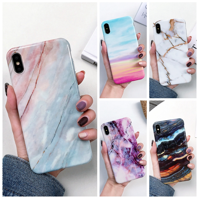 Marble <font><b>Case</b></font> on for Coque <font><b>Samsung</b></font> <font><b>Galaxy</b></font> A7 2018 <font><b>Case</b></font> Silicon Soft TPU Cover for <font><b>Samsung</b></font> A 7 2018 A750F A6 Plus A50 <font><b>A30</b></font> A20 A10 image