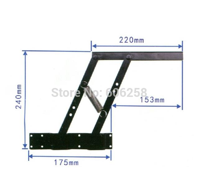 Hardware de los muebles / de múltiples funciones mesa de té soporte para elevación mesa de café bastidor de elevación 1 par