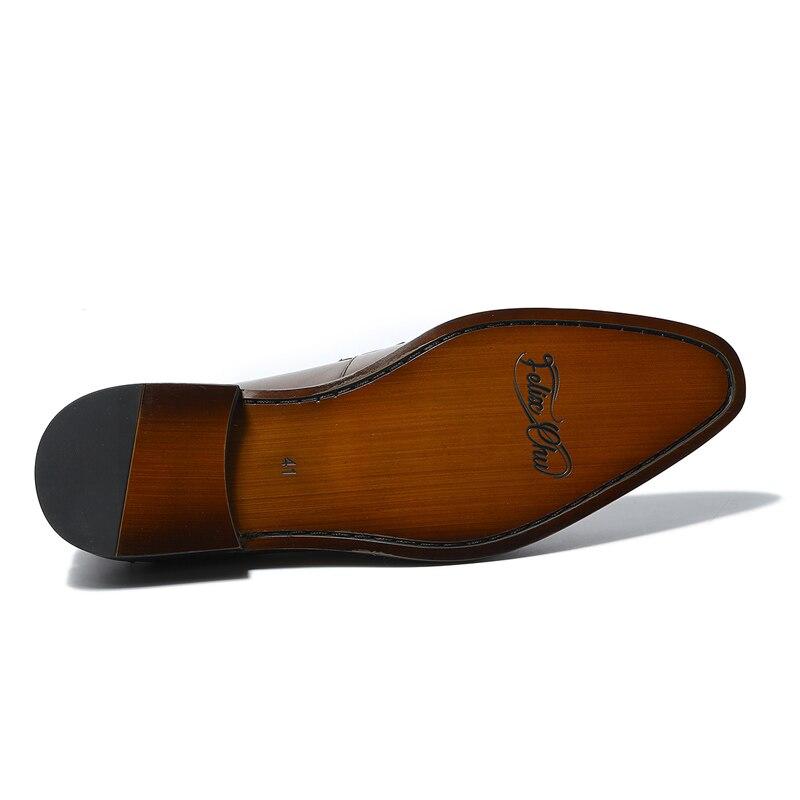 Genuínos Felix Chu Calçado Marrom Masculino Homens Primavera Formal 2018 Festa Sapatos H2 Em Couro Casamento k2 Deslizamento Loafers De Vestem Brown Escritório Se pqptHrfWwn