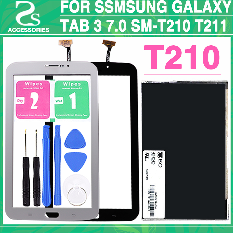 "Brown 7/"" Touch Glass Digitizer For Samsung Galaxy TAB 3 SM-T210 T210R"