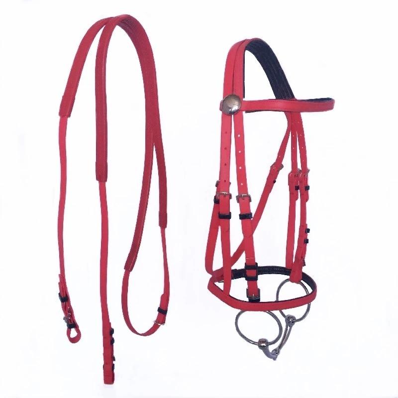 Durable Horse Head Collar Halter Horse Riding Bridle High-quality PVC Horse Racing Equestrian Equipment 1