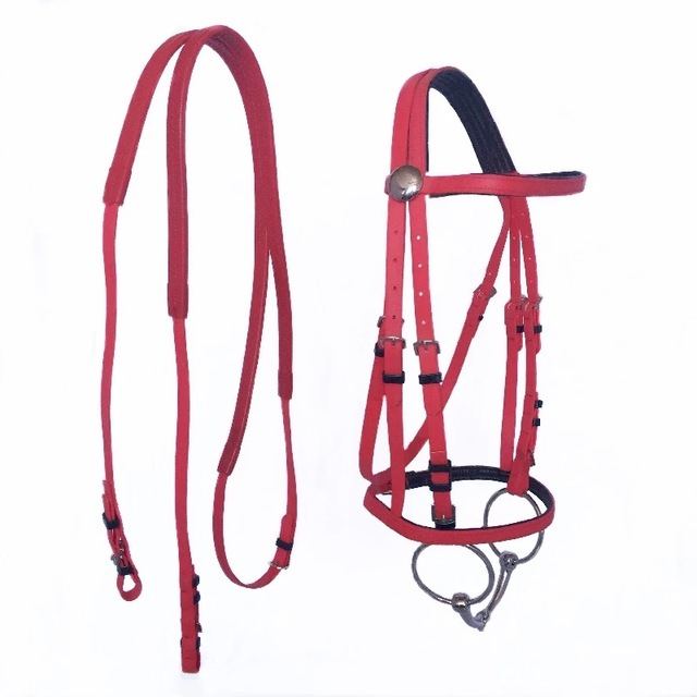 Durable Horse Head Collar Halter Horse Riding Bridle High-quality PVC Horse Racing Equestrian Equipment 1