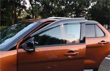 Voor Ford Explorer Sport 2013-2018 ABS Plastic Venster Vizieren Luifels Regen Zon Deflector Vizier Guard Vent Cover 4 stuks