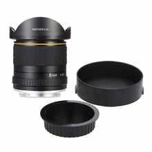 Lightdow 8mm F/3.5 Aspherical Circular Camera Lens Ultra Wide Fisheye Lens for Canon DSLR 550D 650D 750D 77D 80D 1100D  Cameras