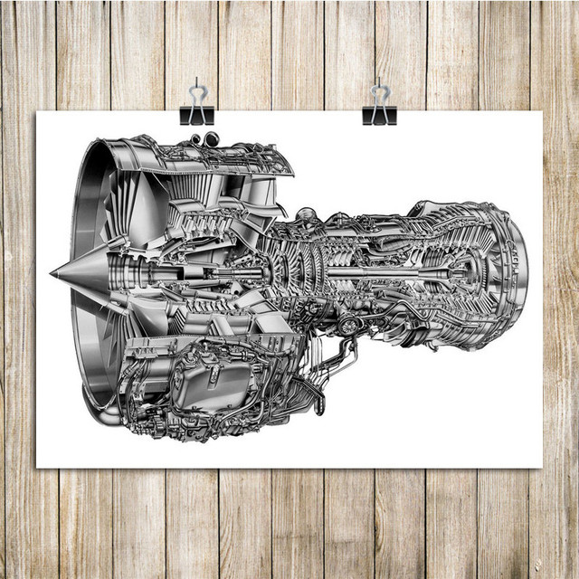 engine structure diagram vintage kraft paper poster house decoration rh aliexpress com 4 Cylinder Engine Diagram Engine Block Diagram