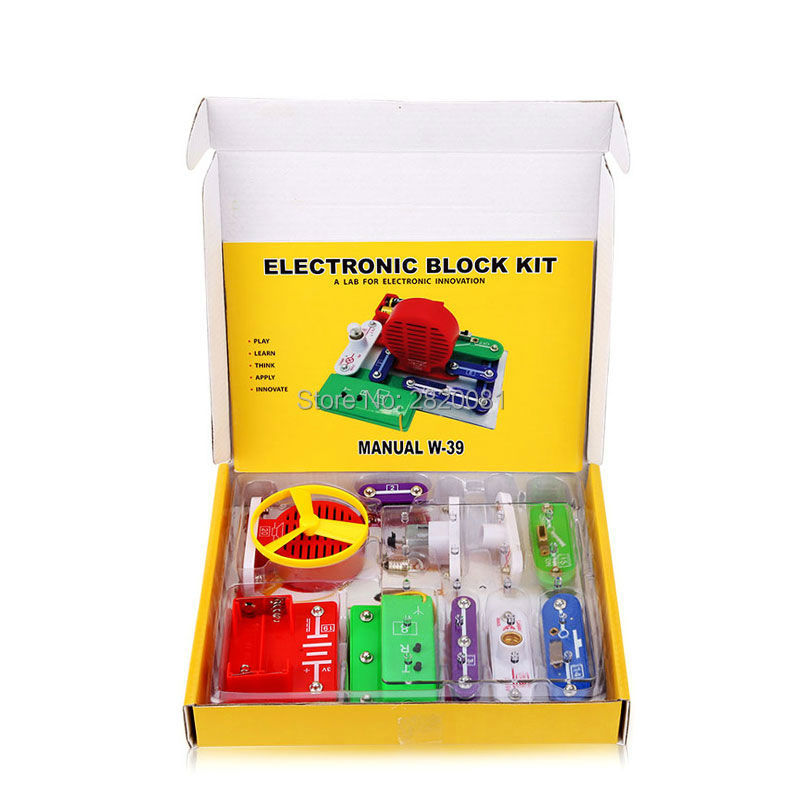 Electronic innovation smart electronic kit educational appliance toy,kids lab building blocks multiple assembled mode DIY toy