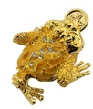 free shipping Decorated Gold Toad Trinket Box, Metallic Frog Jewelry Trinket Box in Gold Color