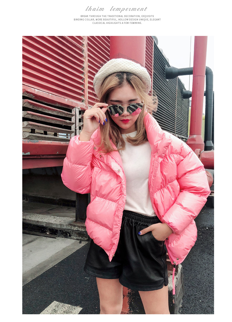 De Bas Slim Brillant Veste Rembourré Down Parkas Beige Chaud Hiver Coton Le L1627 Survêtement Vers pink black purple Femmes red Manteau Mode Lâche Épaissir ZSqwt85n