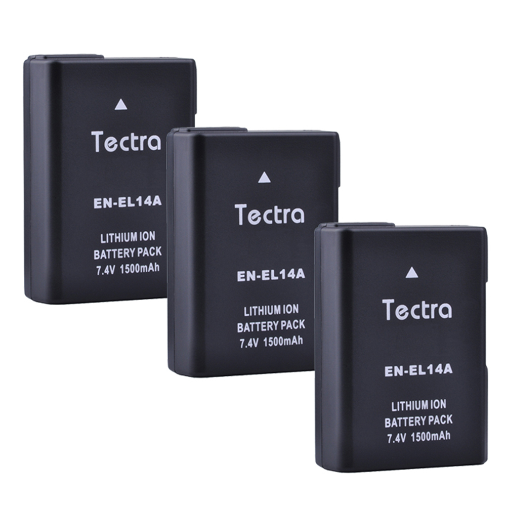 3PCS 1500mAh EN-EL14 EN EL14a Battery for Nikon P7200 P7700 D5500 D5600 D5300 D5200 D3200 D3400 D5100 D3500 D3100 enel14 Battery