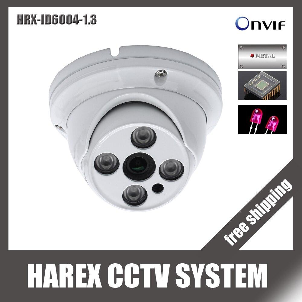 bilder für 960 P array leds ONVIF indoor Ir-cut-nachtsicht POE/Audio metall vandalproof Ip-dome-kamera, freies verschiffen