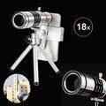 18x zoom universal telescopio len teleobjetivo de la cámara con el trípode para el iphone sony samsung htc lg etc lente de teléfono móvil