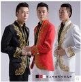 Homens de vento chinês étnico trajes terno do noivo smoking de casamento maré vestido
