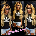 8A Full Lace Human Hair Wigs Blonde 1B613 Peruvian Virgin Hair Weave Gluless Lace Front Human Hair Wigs for Black/White Women