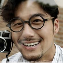 Optical Glasses Frames Men Women Brand Designer Johnny Depp computer Vintage Round Hand Made Acetate Top Quality Q303