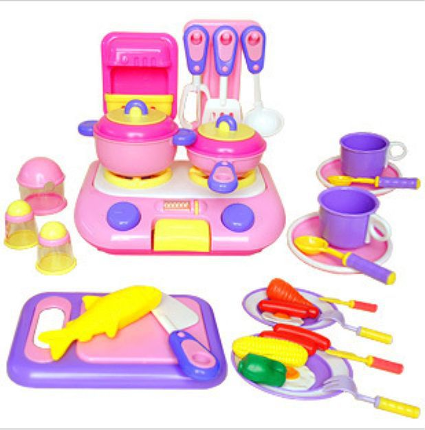 Childrens Toy Kitchen Barn Doors Free Shipping Children S Toys Set Utensils Cooking Baby Simulate Educational
