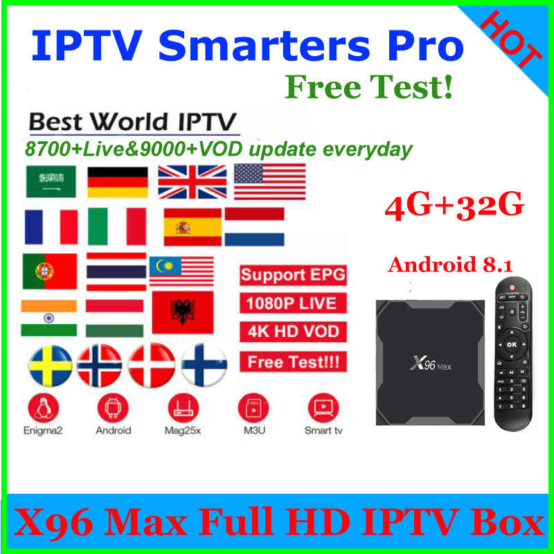 X96 MAX 8600+channels IPTV M3u Subscription Arabic German UK French ES  Holland Sweden Nordic USA Albania for android MxG Enigma2