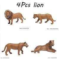 Un Set di Simulazione Modello Animale Foresta Animale Selvatico Giocattolo PVC Antistatico Educazione della Prima Infanzia Modello Animale Giocattoli Bambini Giocattoli Regalo Di Natale