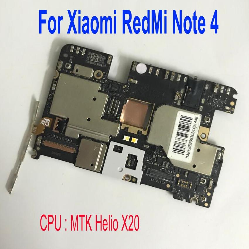 Carte mère de carte mère électronique à microprogramme mondial débloqué frais de Circuits pour Xiaomi RedMi NOTE 4 hongmi NOTE4 câble d'alimentation