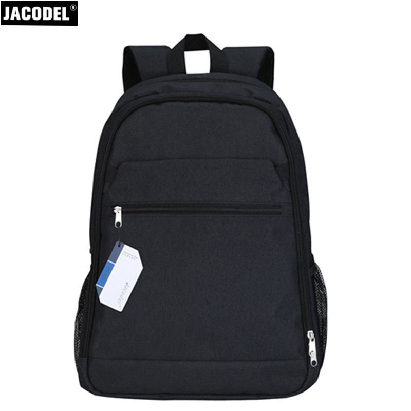 Jacodel New Unisex Black Laptop Bag 17 Inch Computer Backpack for Laptop Xiaomi Dell Asus HP Outdoor Travel School Bags for Boys jacodel unisex large capacity backpack for 15 6 inch laptop bag for dell asus 15 6 men 15 6 girls travel back pack school bags