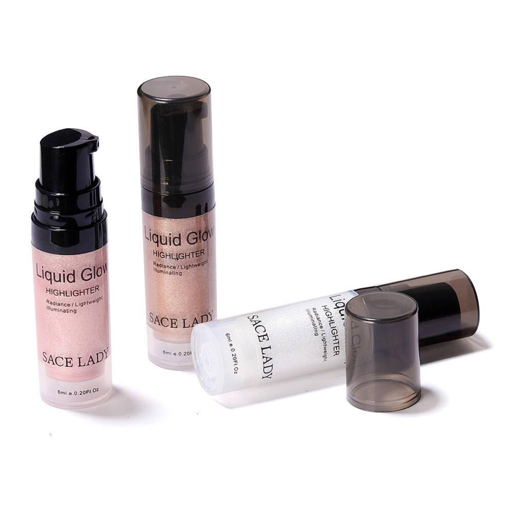 Face Liquid Highlighter Cream Illuminator Makeup Shimmer Glow Kit Make Up Facial Brighten Shine Cosmetic Bronzer Highliter