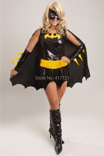 Halloween Costumes For Women Free Shipping ML5223 Yellow Leather Animal Black Fancy Batwomen Dress Superhero Batgirl & Halloween Costumes For Women Free Shipping ML5223 Yellow Leather ...