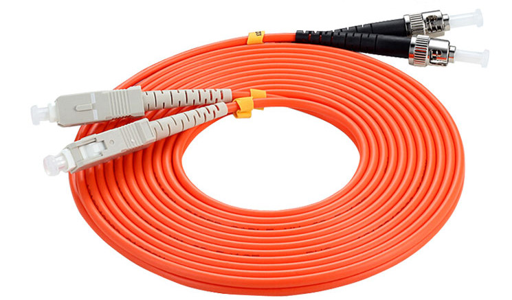15 Meters SC-ST Fiber Optic Cable MultiMode Duplex Patch Cord OM2 50/125 15M