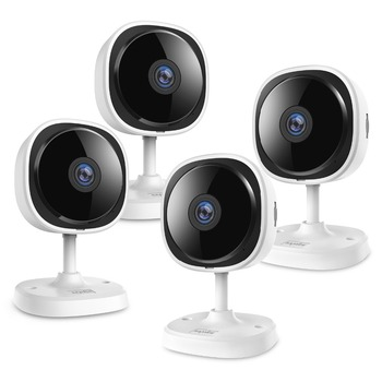 SANNCE 4 Pieces FHD 1080P Fisheye IP Camera 2MP Wireless Wi-fi Mini Baby Monitor Night Vision IR Cut WiFi Home Security Camara