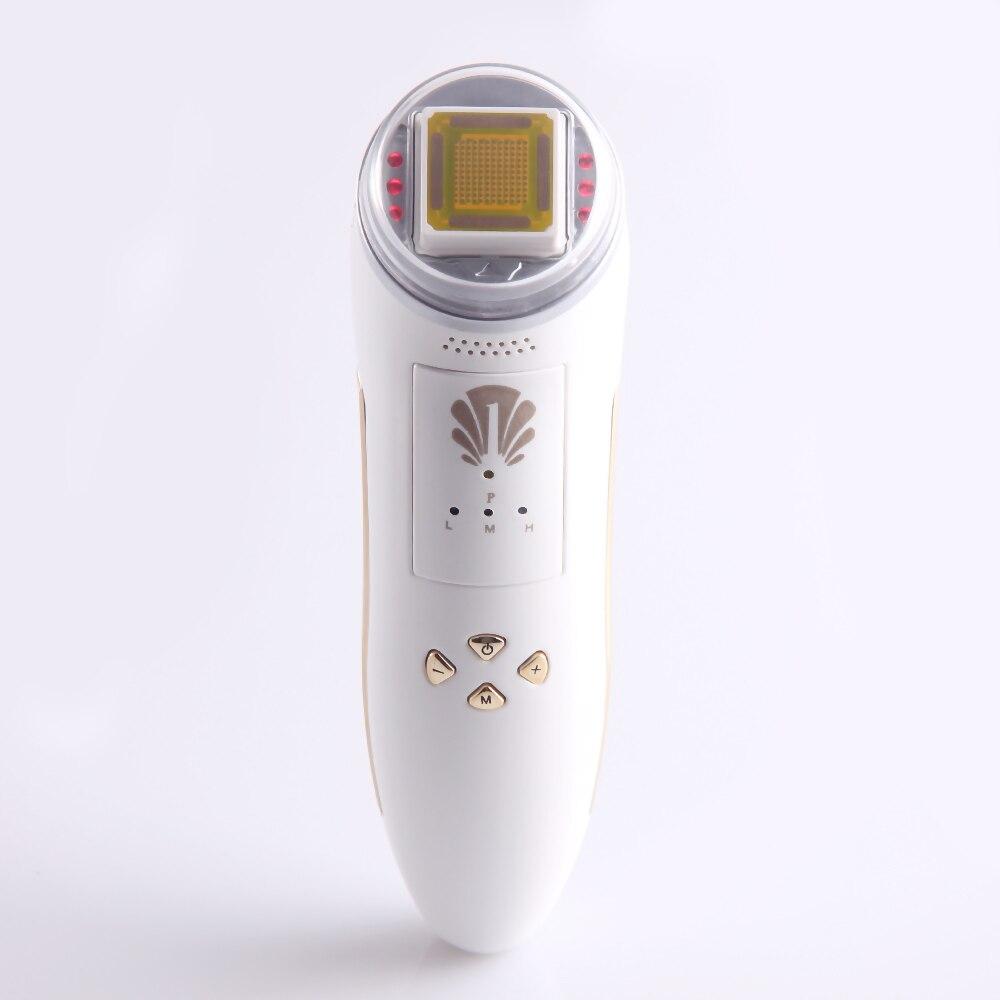 Уход за кожей мини-Частичная РФ Радио частоты омоложение кожи, удаление морщин инфракрасный массажер для лица машины