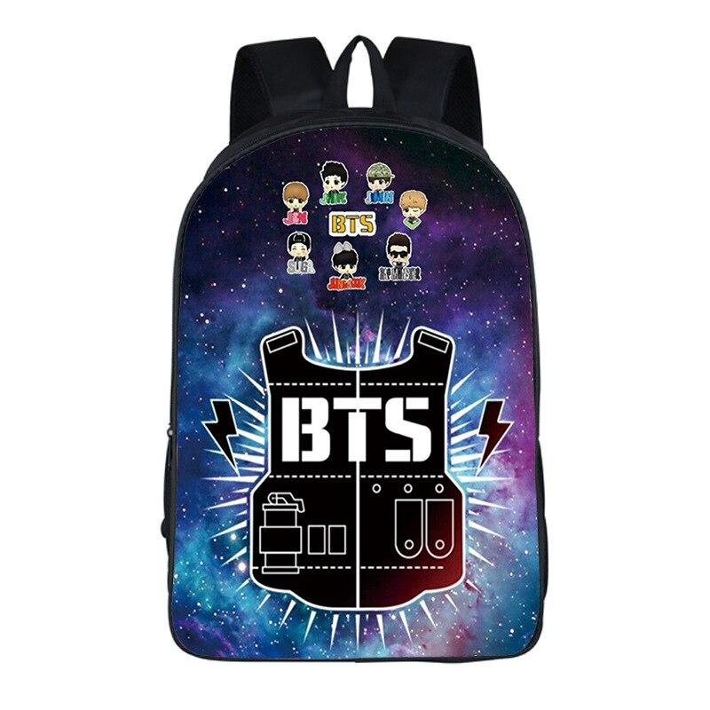 Bts Backpack Schoolbags for Teens Galaxy Backpacks Korean Style School Backpack for teenage ...