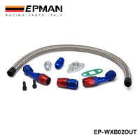 TURBO OIL DRAIN RETURN LINE KIT 10AN FITTING FOR TURBOCHARGER T3 T4 GT45 T04 EP WXB02OUT