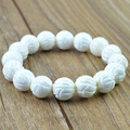 Hot deepwater tridacna natural lotus white Tridacna bracelet beads 8-12mm enhance immune anti-aging bracelets for women