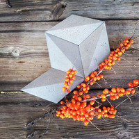 3D geometric concrete wall brick silicone mold home decoration cement background wall mold plaster wall paste mold