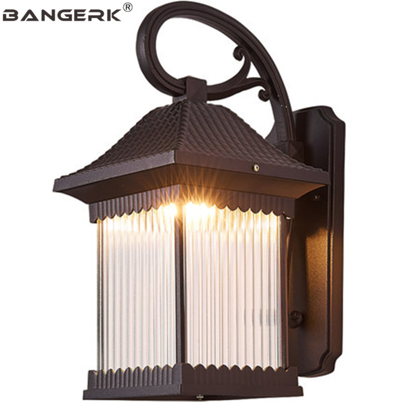 Antique Outdoor Balcony Wall Lamp Waterproof LED Porch Lights Wall Sconce Lighting Fixtures Garden Courtyard Aisle Luminaire LED Outdoor Wall Lamps     - title=