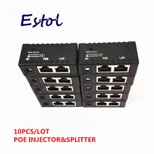 Горячая черный 10 шт./партия POE инжектор мощность над Ethernet адаптер для ip-камеры, ip-телефона, CCTV AP