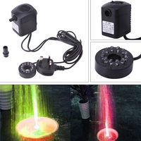 LED Light Submersible Water Pump Aquariums Fish Pond Fountain Sump Waterfall 15W