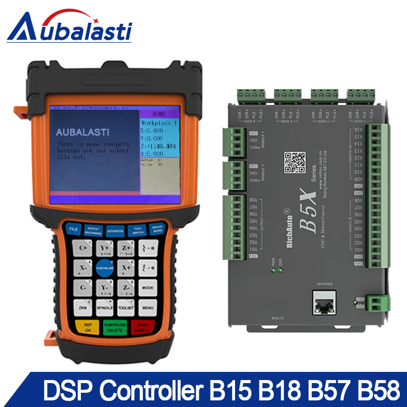 5 pouces multi-couleur 3-4 axes CNC DSP contrôleur B15 B57 B58 Support moteur pas à pas servomoteur ATC outil changeur cylindre multi-tête
