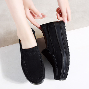 Image 5 - 2019 Autumn Women Flats Platform Shoes Leather Suede Slip On Moccasins Creepers Chaussure Femme Comfort Sneakers Shoes Woman 329