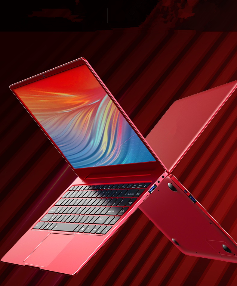 DeeQ Sharp Red Laptops Business Student Hardcore Gamer Travelers Executive Power Users 14inch Windows 10 OS Notebook Computer PC