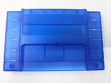5PCS Replacement Game Cartridge For SNES 16bit game card Shell For USA Version Transparent blue Game Player
