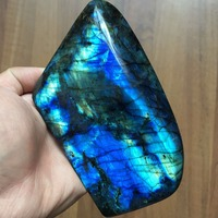 Natural Labradorite Polished Rock Quartz Crystal Healing for Home decoration stone